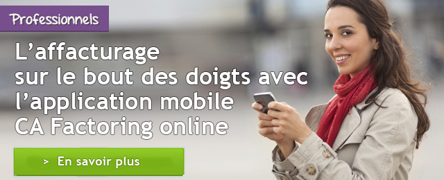 Appli mobile CA Factoring