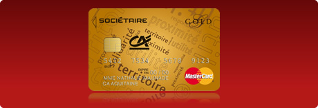 Carte Gold Credit Agricole.Credit Agricole Aquitaine Gold Mastercard Societaire
